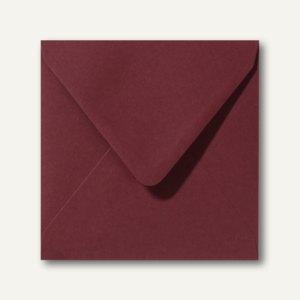 Farbige Briefumschläge 140 x 140 mm nassklebend ohne Fenster dunkelrot 500St.