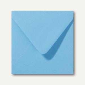 Farbige Briefumschläge 160 x 160 mm nassklebend ohne Fenster ozeanblau 500St.