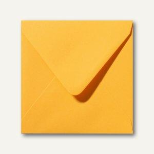 Farbige Briefumschläge 160 x 160 mm nassklebend ohne Fenster goldgelb 500St.
