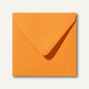 Farbige Briefumschläge 160 x 160 mm nassklebend ohne Fenster grellorange 500St.