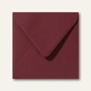 Farbige Briefumschläge 160 x 160 mm nassklebend ohne Fenster dunkelrot 500St.