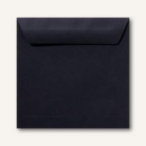 Farbige Briefumschläge 190 x 190 mm nassklebend ohne Fenster schwarz 500St.