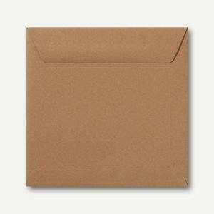 Farbige Briefumschläge 220 x 220 mm nassklebend ohne Fenster braun 500St.