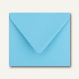 Farbige Briefumschläge 125 x 140 mm nassklebend ohne Fenster ozeanblau 500St.