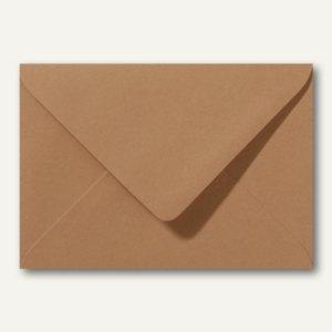 Farbige Briefumschläge 130 x 180 mm nassklebend ohne Fenster braun 500St.
