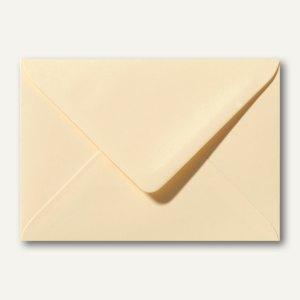 Farbige Briefumschläge 130 x 180 mm nassklebend ohne Fenster chamois 500St.