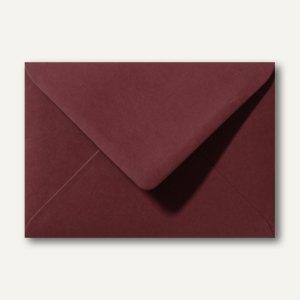 Farbige Briefumschläge 130 x 180 mm nassklebend ohne Fenster dunkelrot 500St.