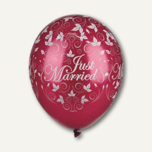 Luftballons Just Married