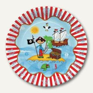 Pappteller Pirate Island