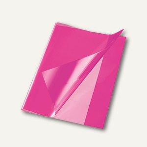 Bene Heftschoner, DIN A5, extra starke Folie, transluzent, pink, 270500 pink
