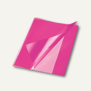Bene Heftschoner, Quart, extra starke Folie, transluzent, pink, 270900 pink