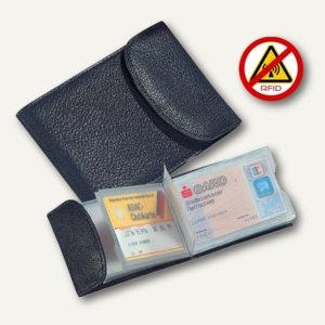 Kredit Visitenkartenetui Rfid Safe Nappaleder 105 X 75 Mm 20 Karten Schwarz