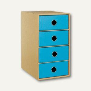 NATURE PACIFIC 4er Schubladenbox DIN A5