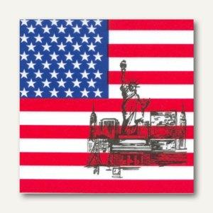 "Motivservietten ""America"", 1/4-Falz, 3-lagig, 33 x 33 cm, 600 Stück, 17954"