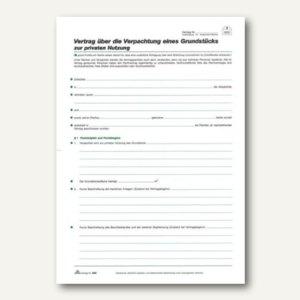 """RNK Pachtvertrag """"Grundstück"""", 4 Seiten, gefalzt auf DIN A4, 10 Stück, 556"""