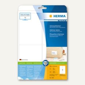 375 Stück weiß Premium A4 Papier matt, 70 x 50,8 mm Herma 5055 Etiketten