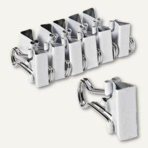 Foldback-Klammern, B 25 mm, vernickelt, wei