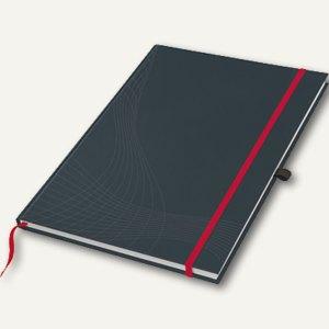 "Notizbuch ""Notizio"", DIN A5, liniert, Hardcover, d.grau, 80 Bl., 7026"