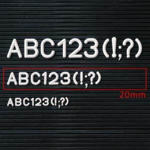 Buchstaben- Ziffern- Zeichen-Ergänzungssatz