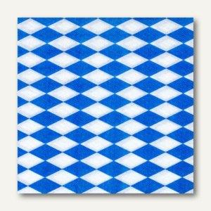 """Motivservietten, 1-lagig, 1/4-Falz, 33 x 33 cm, """"Bayrisch blau"""", 3.600St., 11121"""