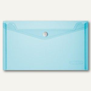 Dokumententasche DIN A5, PP, blau/transparent, 6 St