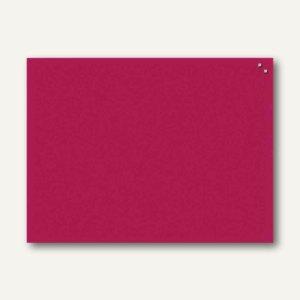 Magnetische Glastafel, Rechteck, 40 x 60 cm, 2 Magnete, rot, GT406001