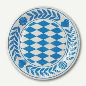 Pappteller Bayrisch Blau