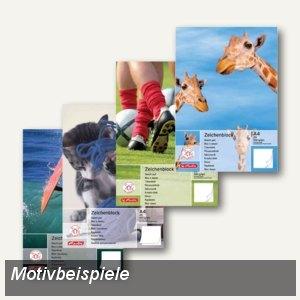 Herlitz Zeichenblock, DIN A4, 100 g/qm, perforiert, 20 Blatt, 494419