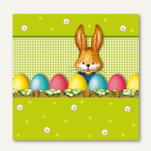 Dekorservietten Hello Bunny