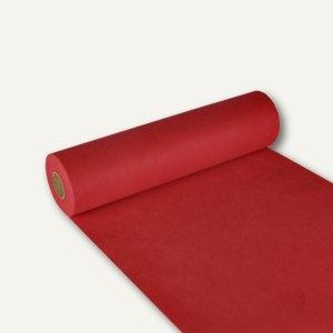 "Papstar Tischläufer ""soft selection"", Vlies, 24m x 40cm, rot, 4 Stück, 84322"