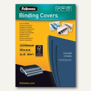Präsentationsdeckblatt Delta A4 Karton Lederstrukt. 250g/qm r.blau 25St.