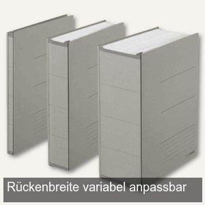 Archivierungs-Ordner ZERO MAX DIN A4, Breite anpassbar, 800 Blatt, grau