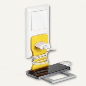 VARICOLOR Handy-/Smartphone-Steckdosenhalter, 84 x 5 x 134 mm, gelb, 773504