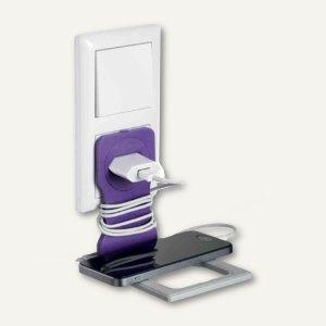 VARICOLOR Handy-/Smartphone-Steckdosenhalter, 84 x 5 x 134 mm, lila, 773512