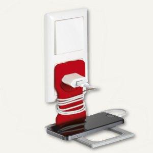 VARICOLOR Handy-/Smartphone-Steckdosenhalter, 84 x 5 x 134 mm, rot, 773503