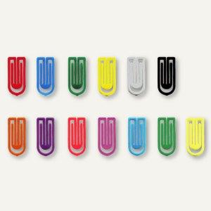 450 Stk Farbige Büroklammern Büromaterial Verschiedene Farben Kunststoffgehäuse