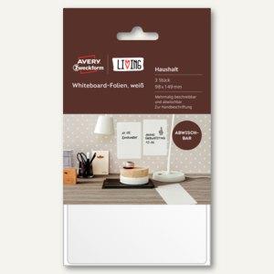 Whiteboard-Folie, 98 x 149 mm, wiederablösbar, weiß, 3 Stück, 62013
