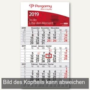 3-Monats-Wandkalender mit Jahresübersicht