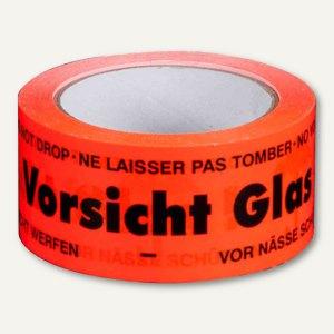 Signalklebeband Vorsicht Glas! - 50 mm x 66 m
