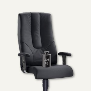 chefsessel turbo xxl bis 200 kg sitzh he 42 55 cm leder schwarz 7100xxl 50 b robedarf. Black Bedroom Furniture Sets. Home Design Ideas