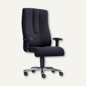 Chefsessel TURBO XXL - bis 200 kg, Sitzhöhe 42–55 cm, Stoff, schwarz, 7100XXL-10