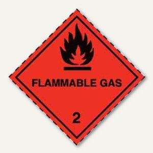 Gefahrgutaufkleberfolie - Gas