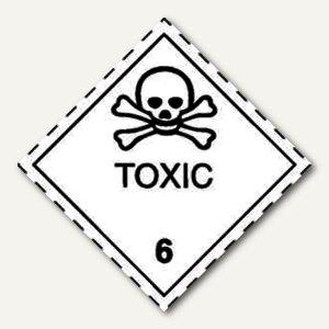 Gefahrgutaufkleberfolie - giftige Stoffe