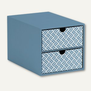 Twist - Smoky Blue 2er Schubladenbox für DIN A5