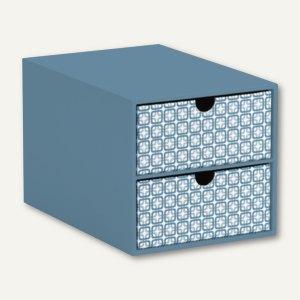 Frame - Smoky Blue 2er Schubladenbox für DIN A5