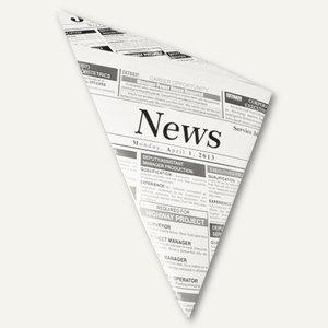 Pommes-Frites-Spitztüten 250g NEWSPRINT