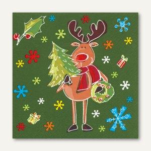 Servietten Funny Moose