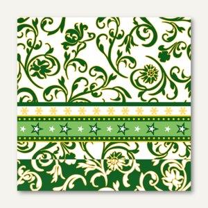 Servietten Ornamentation green