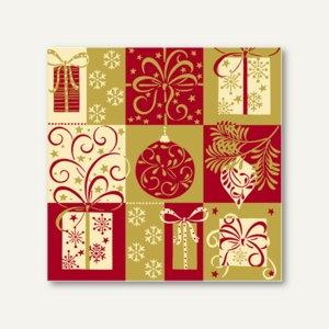 Servietten Christmas Symbols