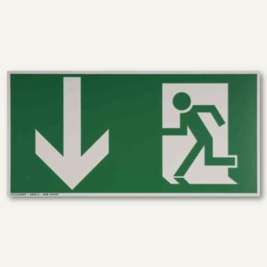 Hinweisschild - Rettungsweg nach unten